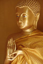 Buddha statue in the first teaching gesture dharmacakra mudra Royalty Free Stock Images