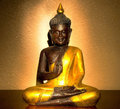 Buddha statue of a golden Royalty Free Stock Image