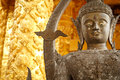 Buddha statue golden in a buddhist temple Stock Image