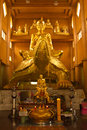 Buddha statue golden in a buddhist temple Stock Images