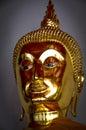 Buddha statue of a golden at the grand palace bangkok thailand Royalty Free Stock Photos