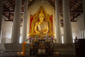 Buddha statue golden at wat lai lopburi Royalty Free Stock Photos