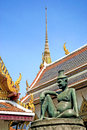 Buddha statue in grand palace of bangkok thailand Stock Images