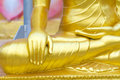 Buddha statue hand close up detail thailand Stock Images
