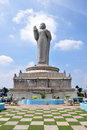 Buddha statue in hussain sagar in hyderabad india Royalty Free Stock Image