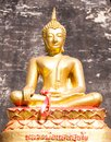 Buddha statue inside buddhist temple Royalty Free Stock Image