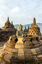 Buddha statue inside stupa of Borobudur temple Royalty Free Stock Photos