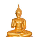 Buddha statue isolated on white Stock Photos