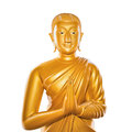 Buddha statue isolated on white Royalty Free Stock Image
