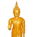Buddha statue isolated on white Stock Photo