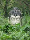 Buddha statue in the jungle Stock Photo