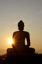 Buddha statue and light Stock Images