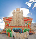 Buddha statue from Likir Monastery Royalty Free Stock Images