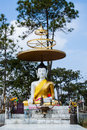 Buddha statue is on the mountain thailand Stock Photography