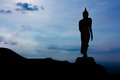 Buddha statue on mountain in thailand asia Royalty Free Stock Photo