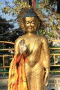 Buddha statue in nepal buddhist golden monkey temple kathmandu Royalty Free Stock Image