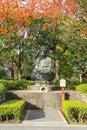 A Buddha statue outside Sensoji Temple in Tokyo Royalty Free Stock Photo