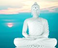 Buddha statue of at peace Royalty Free Stock Photos
