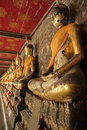Buddha statue perspective bangkok thailand Stock Photography