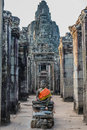 Buddha statue prasat bayon temple angkor thom cambodia at Royalty Free Stock Images