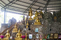 Buddha statue on the rock hill Royalty Free Stock Photo