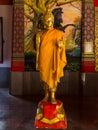 Buddha statue in the temple suphanburi thailand Stock Photos