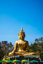 Buddha statue in the temple of thailand Stock Images