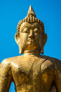 Buddha statue in the temple of thailand Stock Photography
