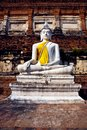 Buddha statue at temple of Wat Mongkol Royalty Free Stock Photography
