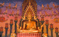 Buddha statue at Thai temple. Stock Photography