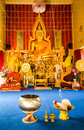 Buddha statue thai temple Stock Photography