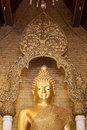 Buddha statue the in thailand temple Royalty Free Stock Photo