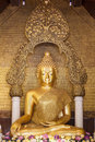 Buddha statue the in thailand temple Royalty Free Stock Image