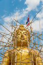 Buddha statue under construction thailand in the north of Stock Photos