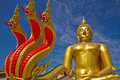 Buddha statue Wat muang Stock Photos