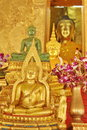 Buddha statue at wat prathad lampangluang lampang Stock Photos