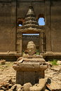 Buddha statue. Wat saam prasob, the sunken temple. Stock Photography