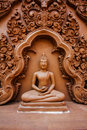 Buddha statue in wat thailand Stock Images