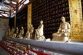 Buddha Statues at Chinese Temple Royalty Free Stock Images