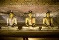 Buddha Statues at Dambulla Cave Temple, Golden Temple of Dambulla, Sri Lanka Royalty Free Stock Photo