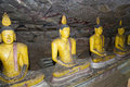 Buddha Statues at Dambulla Rock Temple Stock Images