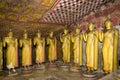 Buddha Statues at Dambulla Rock Temple, Sri Lanka Royalty Free Stock Photo