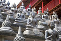Buddha Statues at Gangaramaya Temple Royalty Free Stock Photo