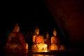 Buddha statues,Many buddha statue outdoor,at Wat Ao Noi , Thailand Royalty Free Stock Photo