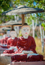 Buddha statues, Monywa, Myanmar Royalty Free Stock Photos