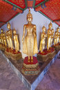 Buddha statues in the Wat Pho temple Stock Photo