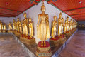 Buddha statues in the Wat Pho temple Stock Image