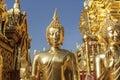 Buddha statues in wat phra that doi suthep in chiang mai thailand Stock Photo