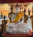Buddha statues in Wat Phrathat Doi Suthep Stock Photo