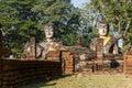 Buddha Statues at Wat Pra Khaeo Kamphaeng Phet Province, Thailand Royalty Free Stock Photo